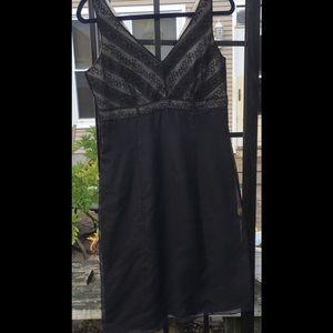 Silk Ann Taylor sz6 little black dress beaded top